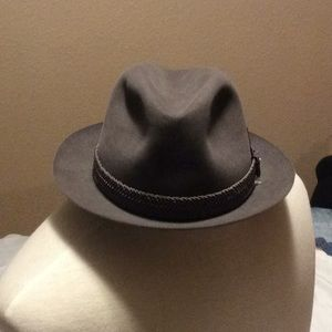Stetson Boy's vintage derby hat  grey  with band